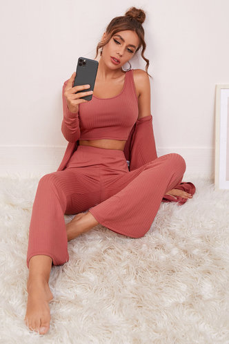 front_Denisse Rusty Rose Loungewear Set