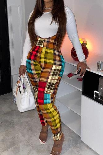 front_Annis Flugil Plaid Pants Set