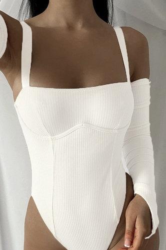 front_Jacquetta Elva White Bodysuit