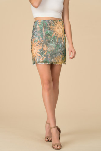 back_Galaxy Helios Print Skirt