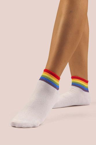back_Janetta Elsa White Socks 5pairs