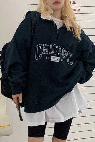 front_Babbie Eileen Navy Blue Sweatshirt