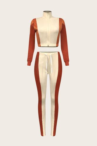 back_Mixed printing Multicolor Pants Sets