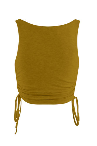 back_Weekend Chill Brown Sleeveless Top