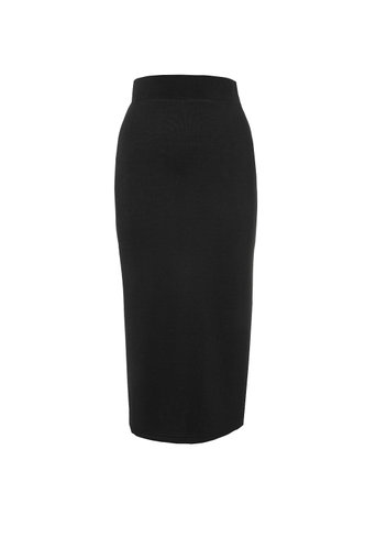 front_Boardroom Boss Black Pencil Skirt