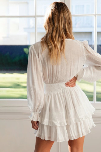 back_Always Be There White Dress