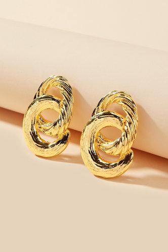 back_Lynn Elaine Gold Double Twist Circle Earrings 1pair