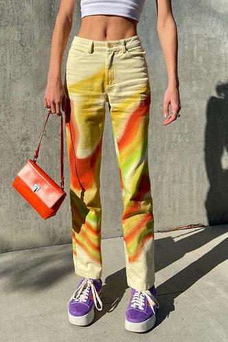 front_Rosita Erica Wave Print Pants