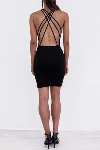 back_Philipppa Edwina Black Bodycon Dress