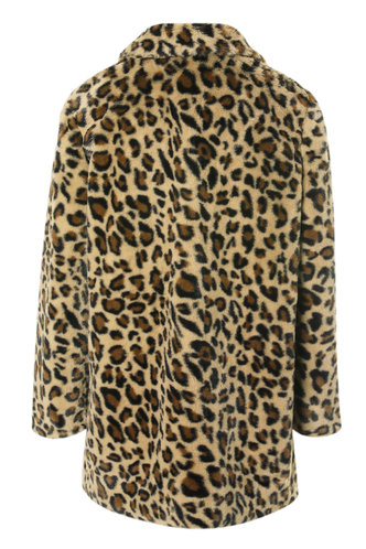 back_So Extra {color} Teddy Coat