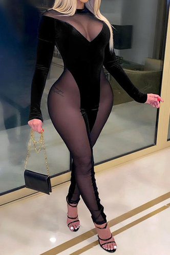front_Lettie Erica Black Jumpsuit