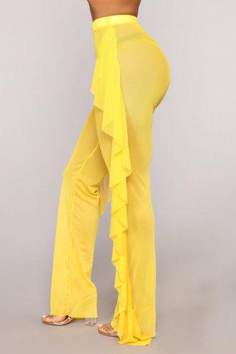 back_Maria Elva Lemon Yellow Pants
