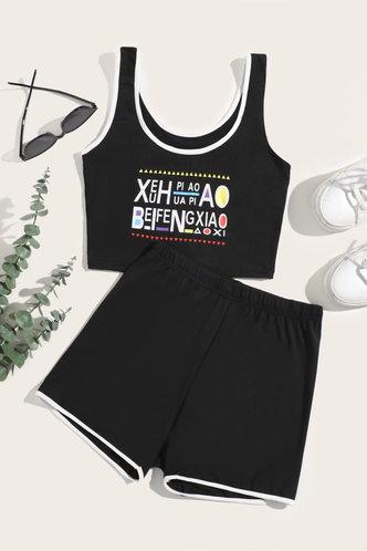 front_Felice Eleanore Black Activewear Set