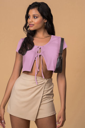 front_Written With Love Purple Short Sleeve Top