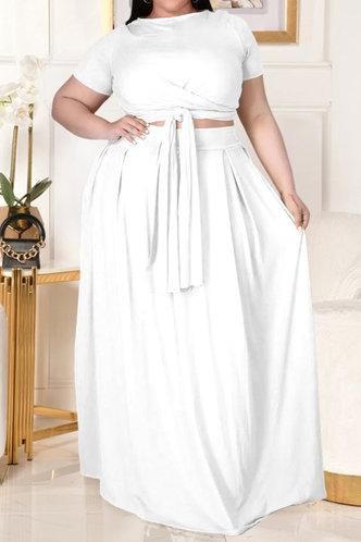 back_Davina Eunice White Plus Size Skirt Set