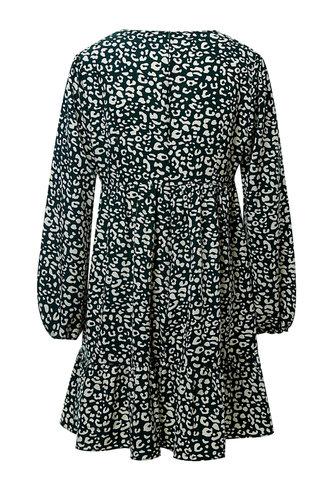 back_Cape Jasmine Black And White Graphic Cheetah Print Dress