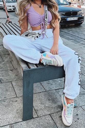 back_Olive Enid White Sweatpants