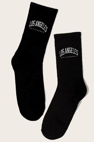 front_Lucinda Elsa Black Socks 1pair
