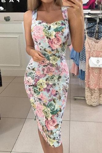 front_Eileen Klub Floral Print Bodycon Dress
