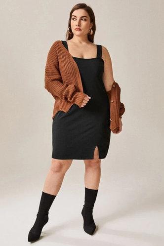 front_Xaviera Eileen Black Plus Dress