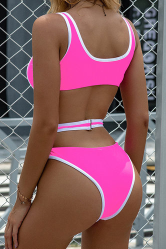 back_Brigid Elsa Pink One-Piece Swimsuit
