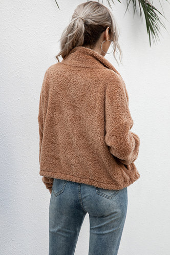 back_Ora Camel Teddy Jacket