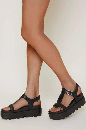 front_Erin Hakil Black Minimalist Platform Slingback Sandals