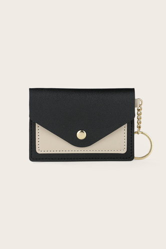front_Greer Erica Black And Beige Purse