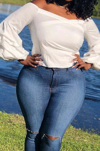 back_Tania Eleanore White Plus Top