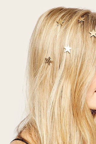 front_Isa Eleanore Gold Hair Ring 5pcs