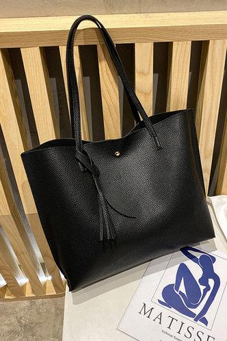 back_Tessie Elvira Black Tote Bag