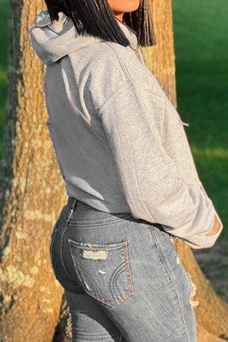 back_Alexandrina Erin Grey Plus Drawstring Pocket Hoodie