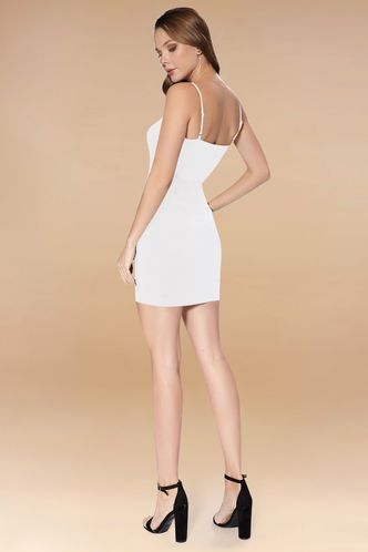 back_Next To You White Mini Dress
