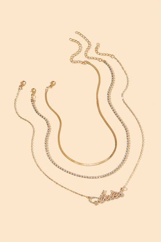 back_Janie Elsa Gold Rhinestone Charm Layered Necklace