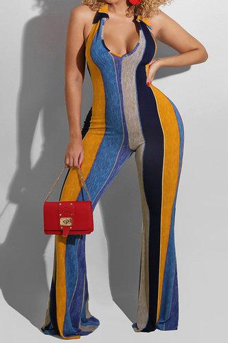 front_Teresa Ella Orange And Blue Striped Jumpsuit