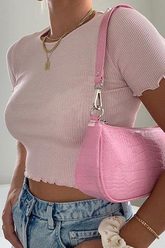 front_Cora Eleanore Baby Pink Tee