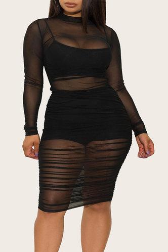 front_Minerva Ella Black Plus Bodycon Dress