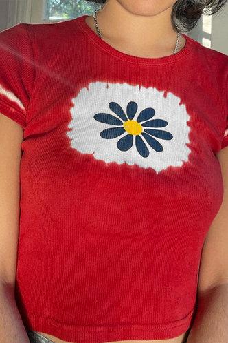 front_Shona Elizabeth Red Crop Tee