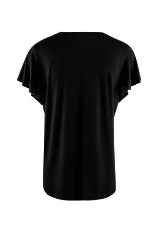 back_Flying Heart Black Short Sleeve Top