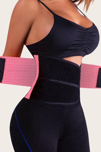front_Wanda Eleanore Black And Pink Velcro & Zip Corset Shapewear