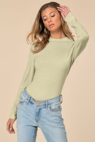 front_Chic Style Apricot Fitted Tee