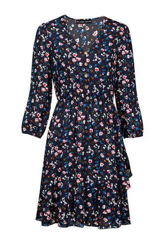 back_How Beautiful Dark Navy Floral Print Mini Dress