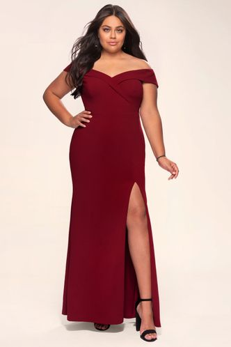 back_My Valentine {Color} Stretch Crepe Maxi Dress