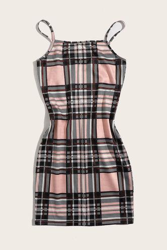 back_Bonnie Edwina Khaki Plaid Dress