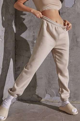 front_Evangeline Ostum Khaki Sweatpants