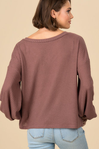 back_All For You Red Rib Knit Top