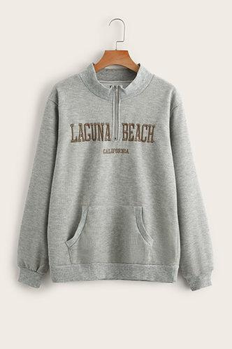 back_Madeleine Eartha Light Grey Sweatshirt
