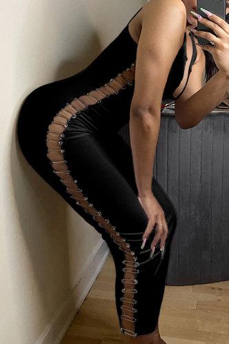 back_Eudora Hark Black Tie Side Bodycon Dress