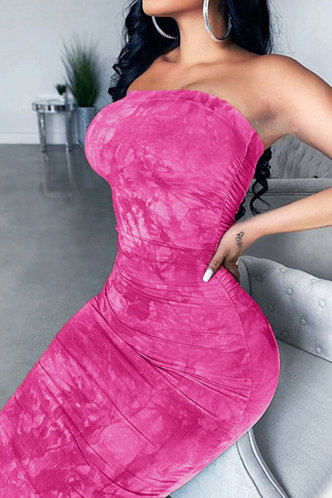 front_Lilly Elma Rose Pink Bodycon Tube Dress