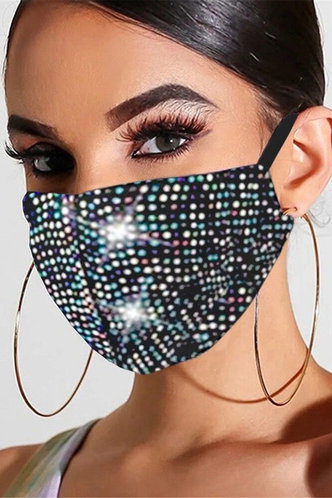 front_Fannie Eileen Black Diamond Face Mask